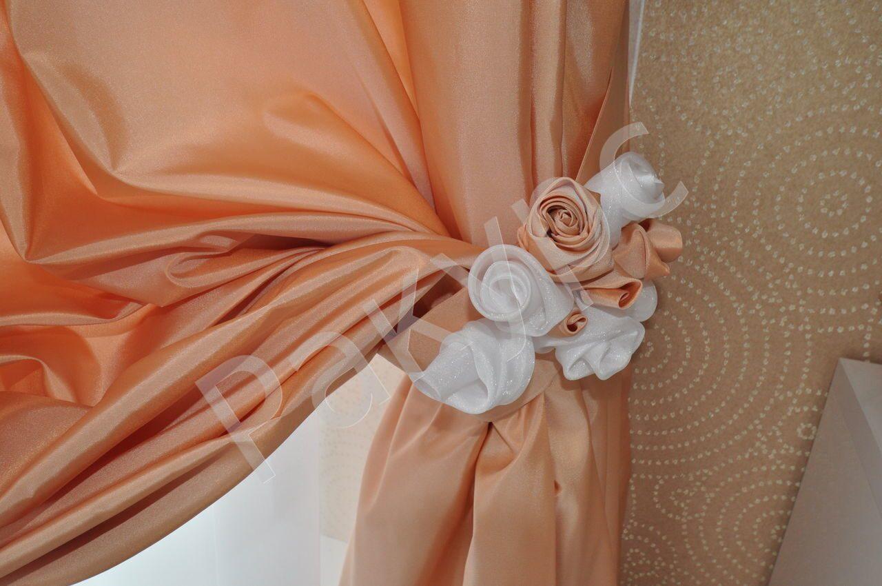 Фото цветы из органзы для штор