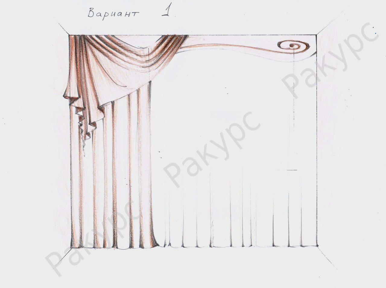 Красивые шторы своими руками схемы