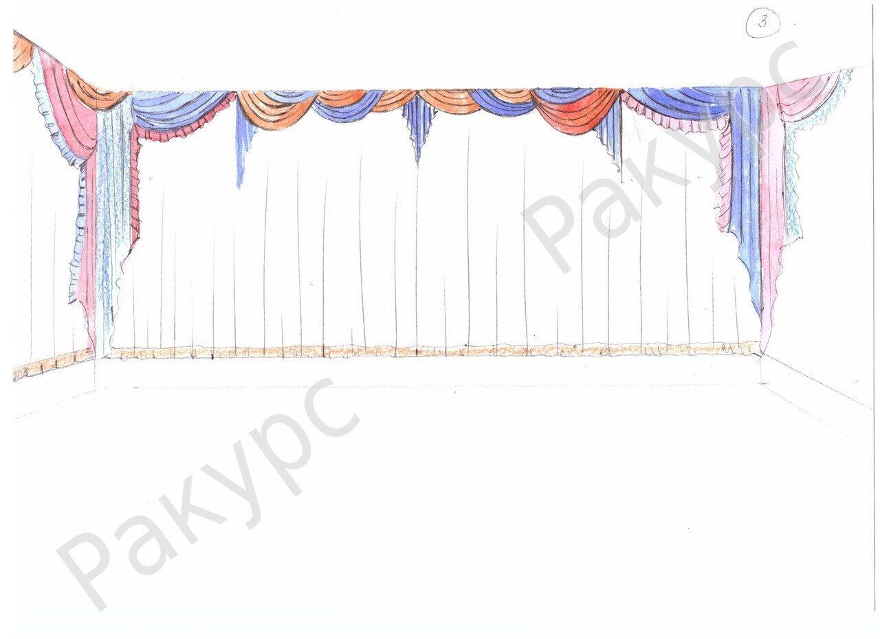 Эскизы штор для зала фото