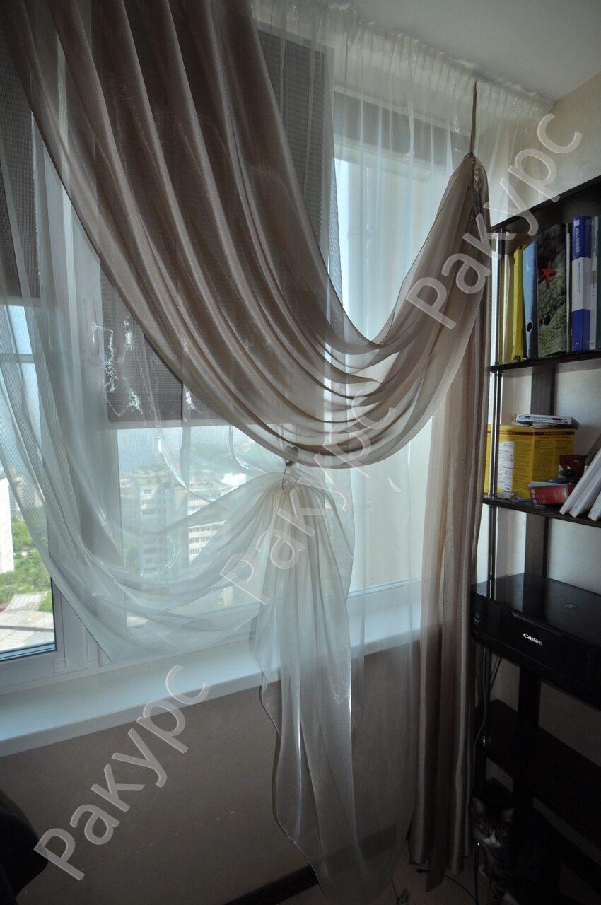 Фото шторы из полуорганзы