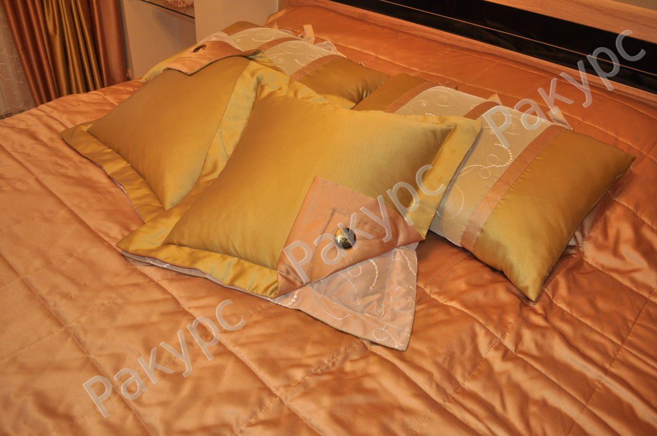 Покрывало и подушки своими руками