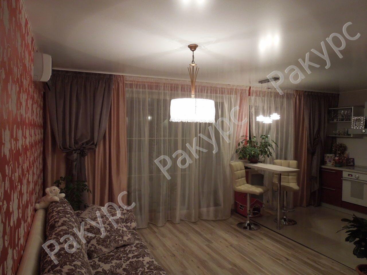 нитяные шторы в гостиную фото