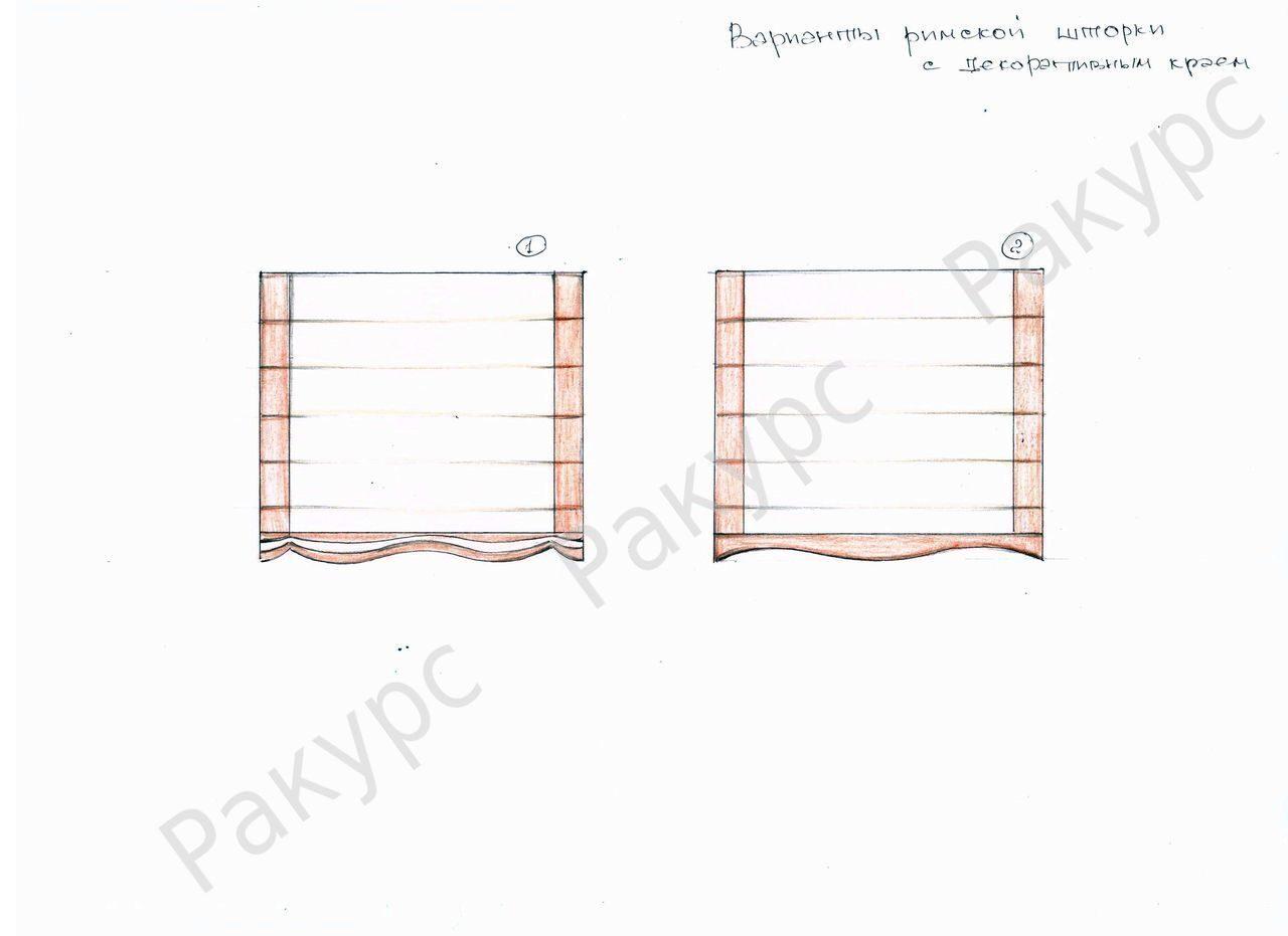 Как сшить римскую штору с окантовкой