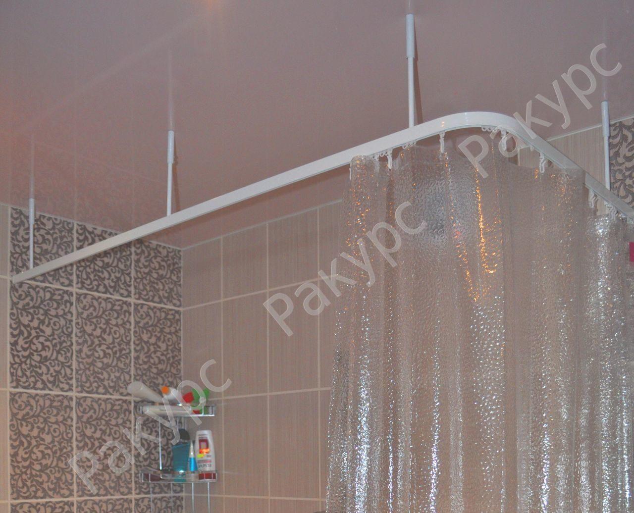 Штанга для шторы в ванную своими руками 158