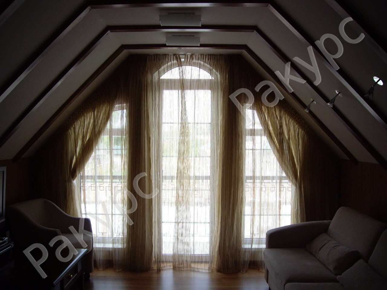 Выкройки треугольной шторы